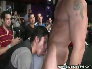 Gay degustating dicks at the strippers..